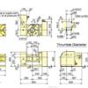Kitagawa TT251HV00 Tilting NC Rotary Table Technical Drawing