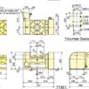Kitagawa TT321HV00 Tilting NC Rotart Table Technical Drawing