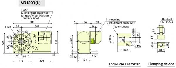 MR120 Dimensions