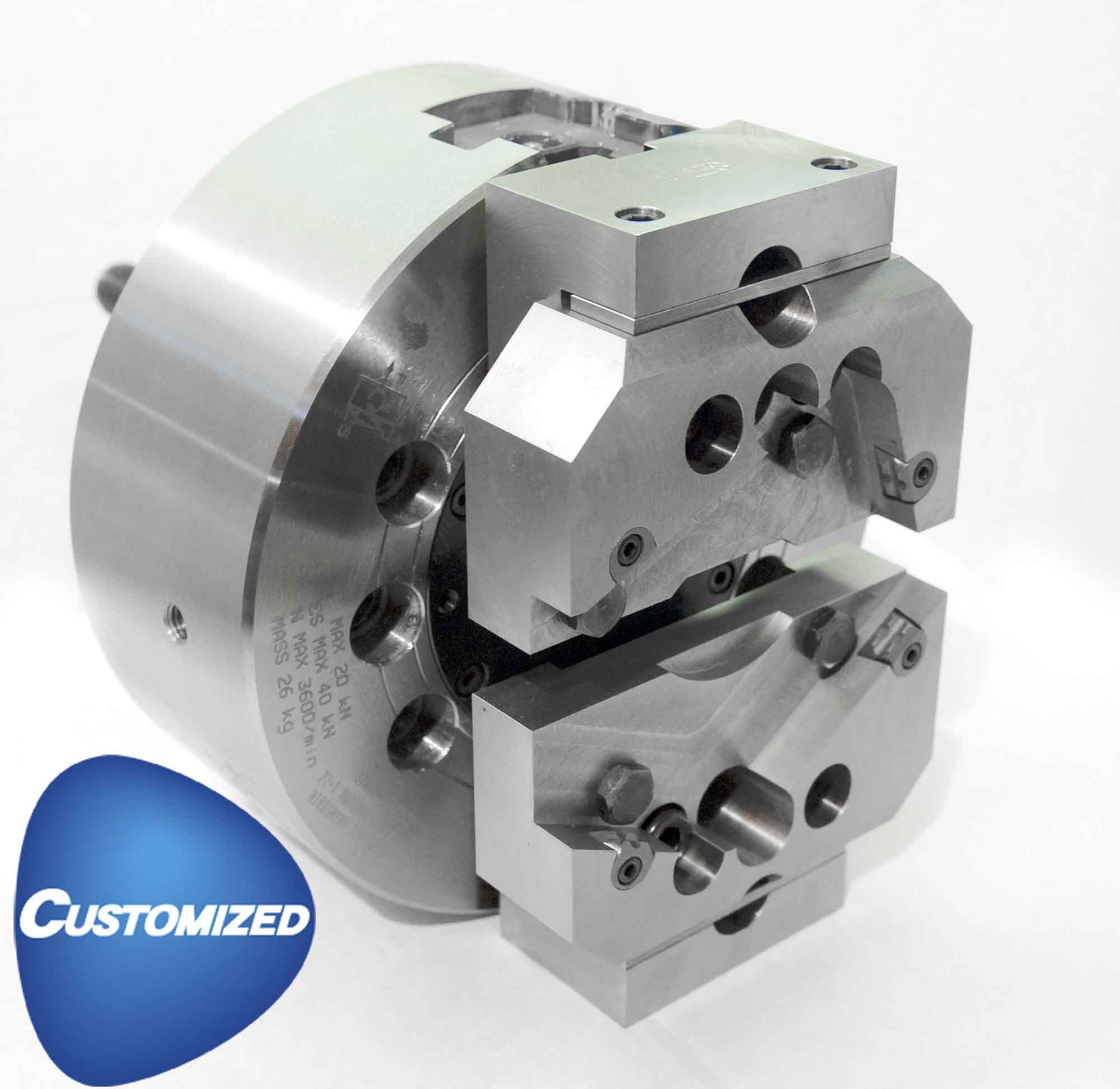 Kitagawa NT15 2-Jaw Closed Centre Power Chuck Customisable