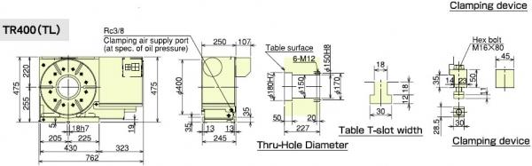 TR400 Dimensions